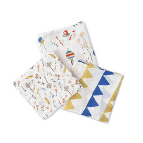 Red Rover - Cotton Muslin Swaddle 3 Pack - Party Time - R Exclusive
