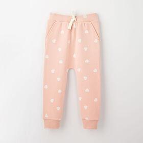 drop-crotch cozy sweats, 9-12m - light pink
