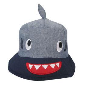 Chapeau De Seau Baby B - Requin, Bleu, 0-12M