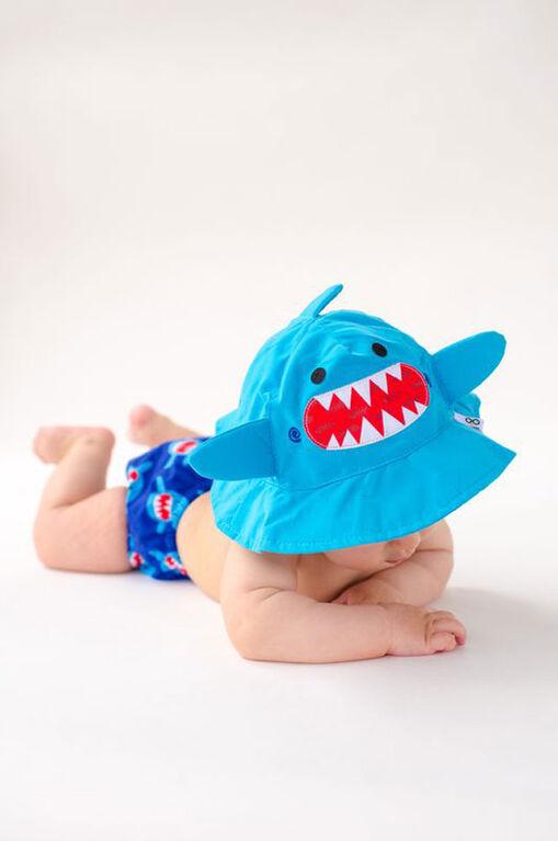 Zoocchini - Ensemble de couches et de bonnets de bain - Requin - Grand