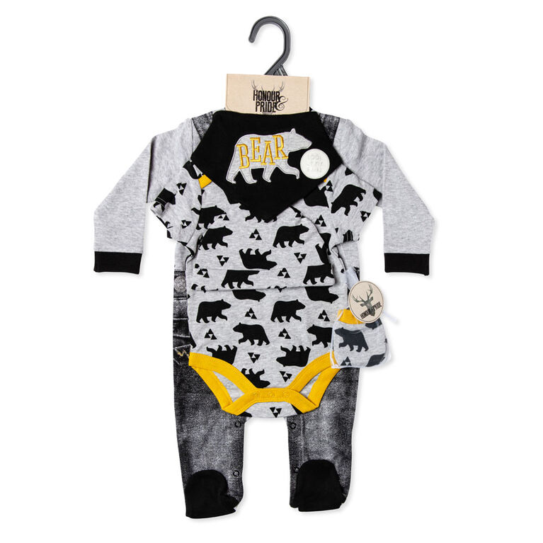Lily & Jack - Forest Bear Footie 5-Pc Set - 3-6 Months
