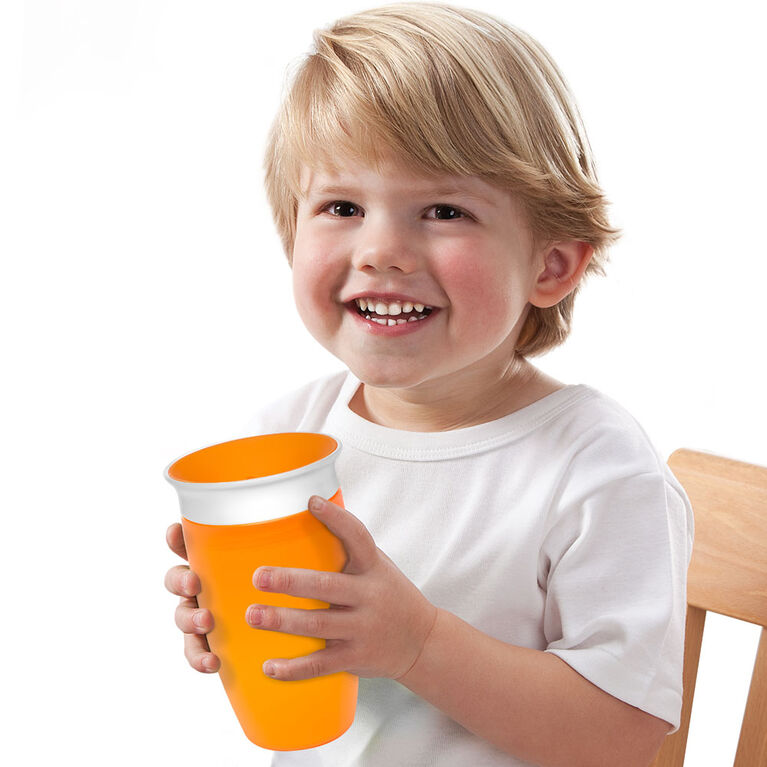 Munchkin – Tasse anti-gouttes Miracle 360° Sippy Cup - Orange.