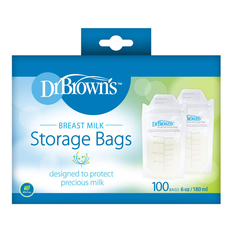 Dr. Brown's Breastmilk Storage Bags 100 bags