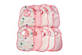 Emballages de 10 bavoirs en tissu éponge Koala Baby.