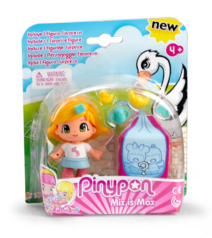Pinypon Figure & 1 Surprise Baby - Blonde Hair