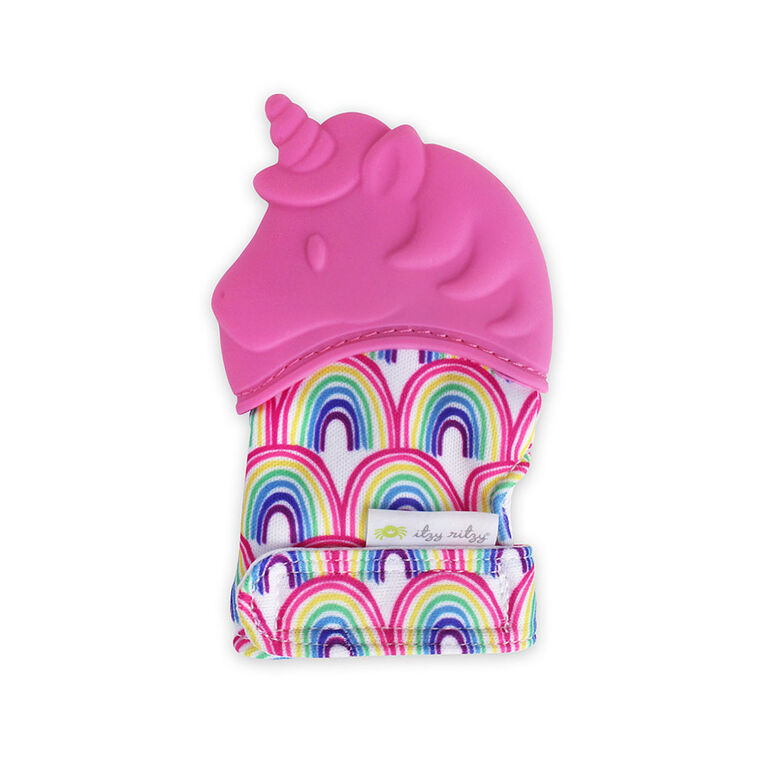 Itzy Ritzy Teething Happens Teething Mitt- Unicorn