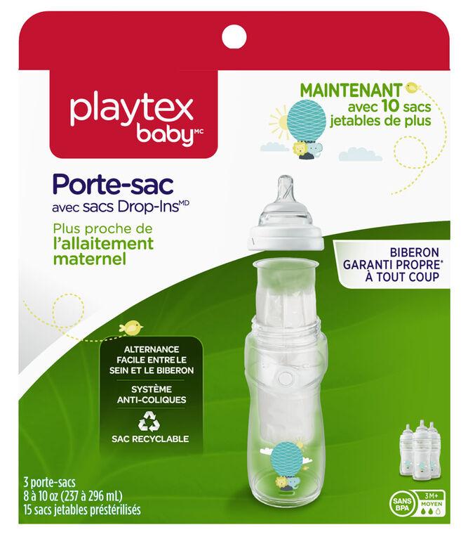 Sacs pour porte-sac naturel de Playtex Baby - 10oz - Boîte de 100