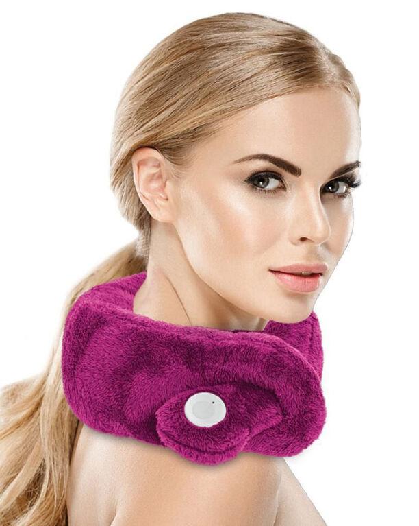 Sharper Image Travel-Ready Massaging Neck Wrap, Magenta