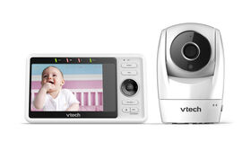 "VTech RM5762 Wi-Fi Remote Access Video Baby Monitor with 5"" 1080p HD Pan & Tilt Camera - White"