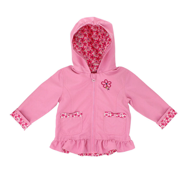 Northpeak Baby Girls Fashion Jacket- Candy Pink - 18 Months