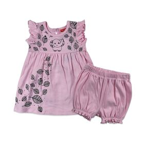 Fisher-Price 2-Piece Dress and Pantyr Set - Pink, 3 Months