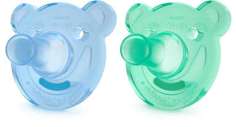 Philips AVENT SoothieShapes Bear 3 Months+, 2-Pack - Blue/Green