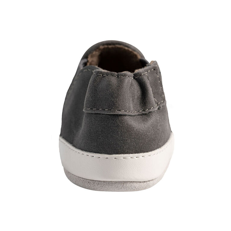 Robeez -  Semelles souples Grey Leather 6-12m