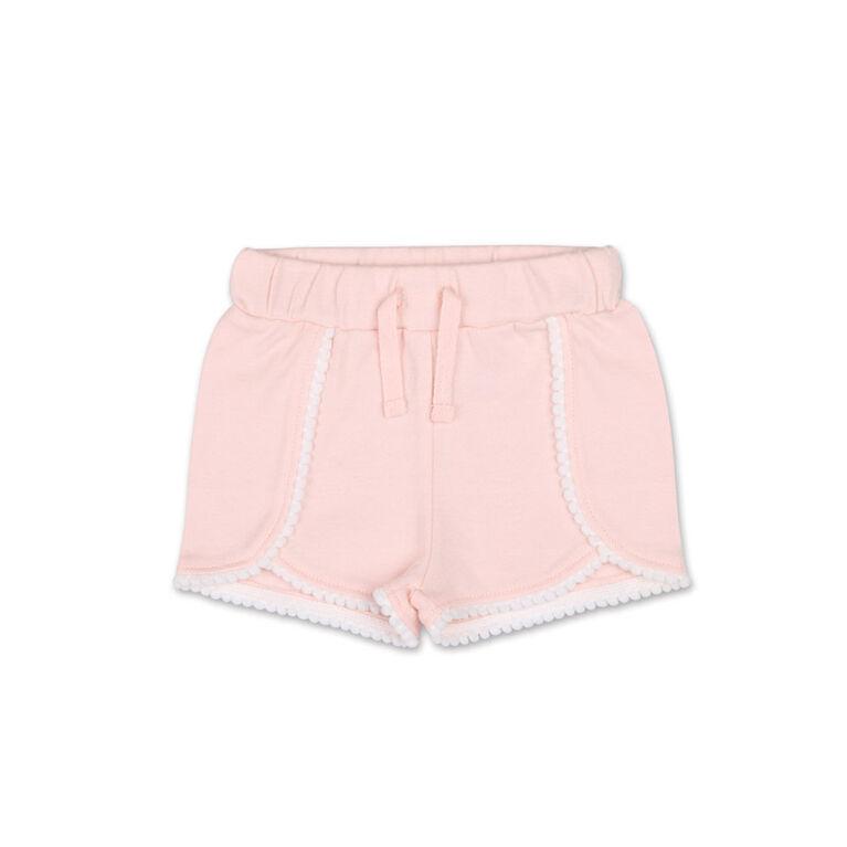 Koala Baby Pink Pom Pom Trim Shorts - 0-3 Months