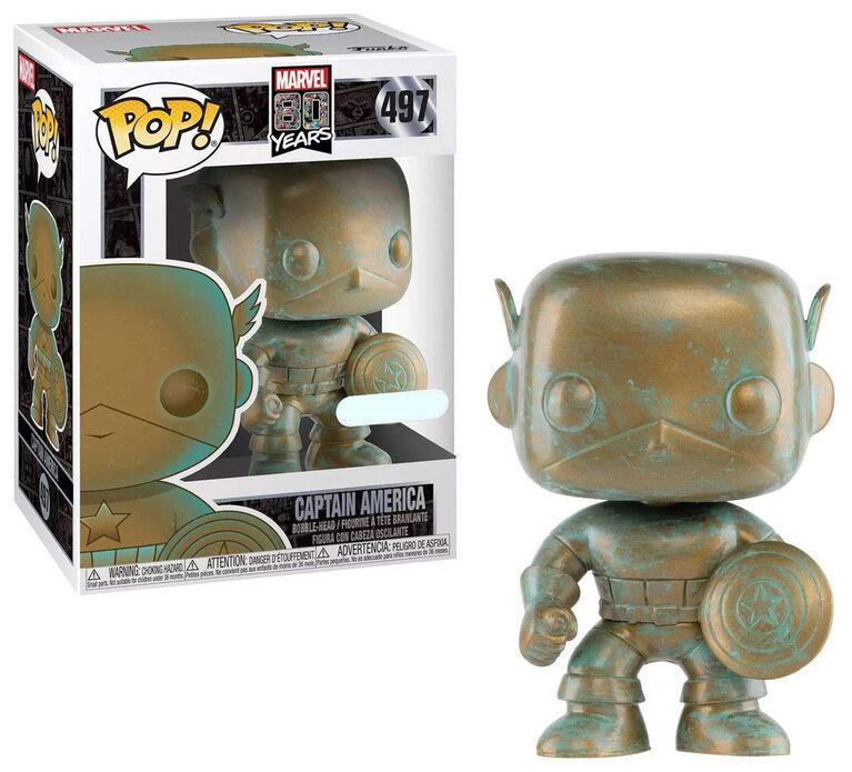 Figurine en Vinyle Captain America par Funko POP! Marvel 80th - Notre exclusivité
