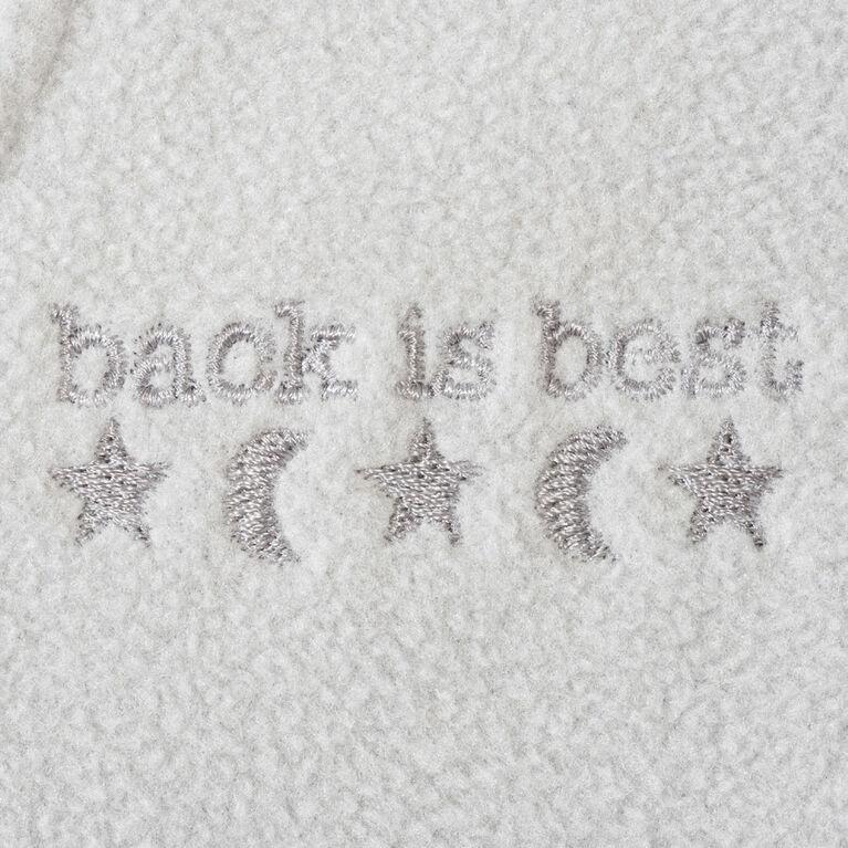 HALO SleepSack wearable blanket - Gris Fixe - Micro-toison - Petite.