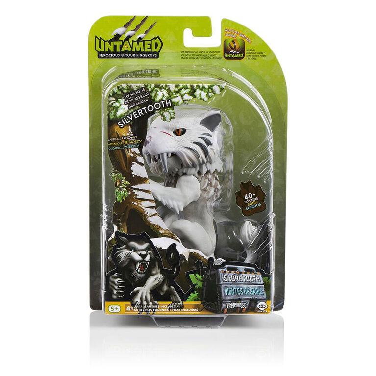 Fingerlings Untamed - Sabre Tooth Tiger - Silvertooth (Silver)