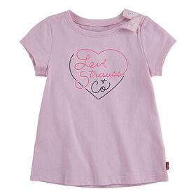 Levis T-shirt Graphique - Rose, 12 mois