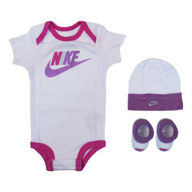 Nike Creeper Set - Fuschia, 0-6 Months