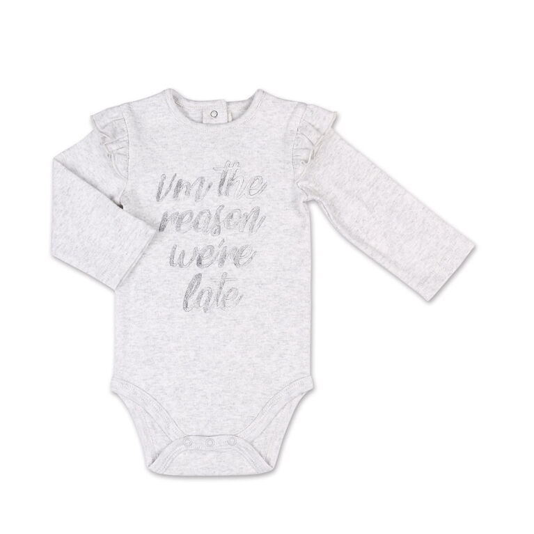 Koala Baby I'm The Reason We're Late Long Sleeved Bodysuit - 12-18 Months