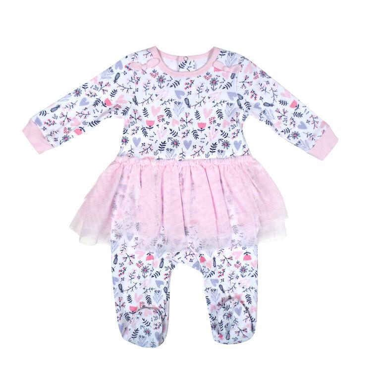Rococo 1 Piece Tutu Sleeper - Pink, 9 Months
