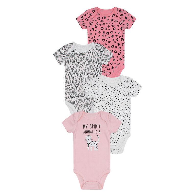 PL Baby Félin Fabuleux Chemises à Couches 4pk Corail 6M