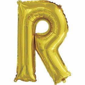 """Ballons en forme de lettre or 14 """" - R"""