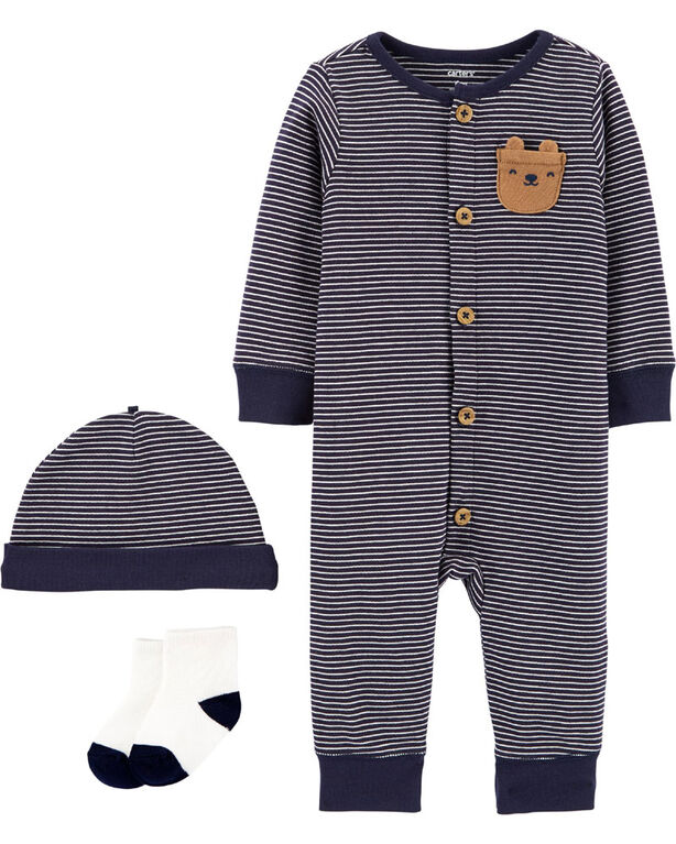 Carter's 3-Piece Take-Me-Home Set Navy - 9 Months