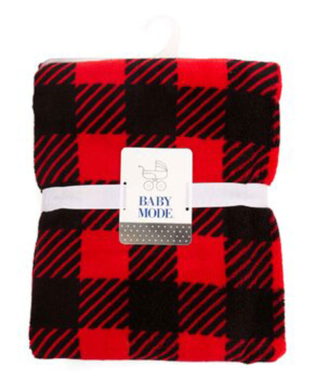Red Buffalo Plaid Baby Blanket