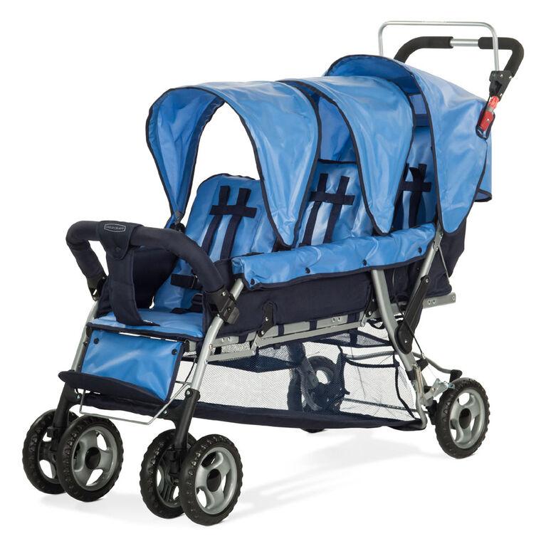 Poussette à 3 sièges de Child Craft, Bleu.