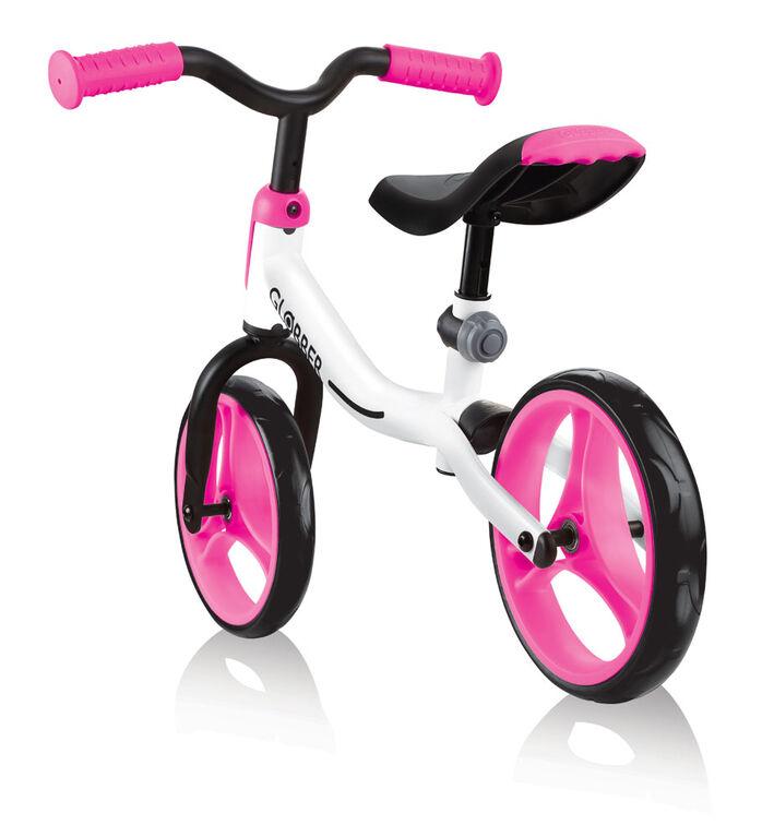 GO Balance Bike - White/Neon Pink