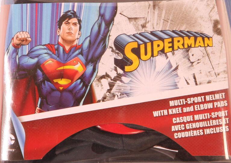 Stoneridge Cycle helmet and pad set age 8+ - Superman