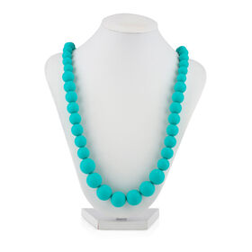 Collier de dentition a perles Teething Trends de Nuby - Aqua.
