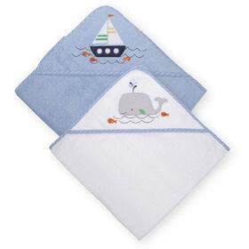 Koala Baby 2-Pack Hooded Towel, Blue Whale