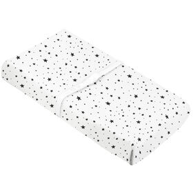 Kushies Baby Contour Change Pad Cover - Black & White Scribble Stars