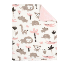 Koala Baby Baby Blanket - Pink Printed Jungle Animal