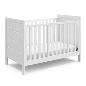Storkcraft Nestling 3-in-1 Convertible Crib - White||Storkcraft Nestling 3-in-1 Convertible Crib - White
