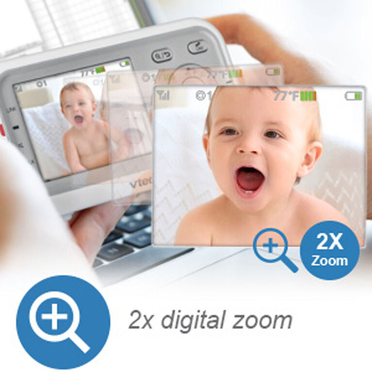 "VTech VM3253 2.8"" Digital Video Baby Monitor with Full-Color and Automatic Night Vision - White"