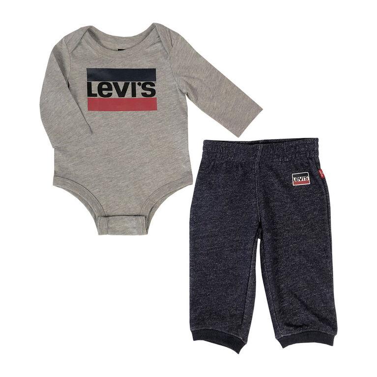 Levis Ensemble Cache couches - Gris, 3 mois