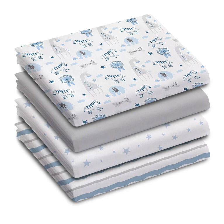Koala Baby - Receiving Blankets 4 Pk Safari