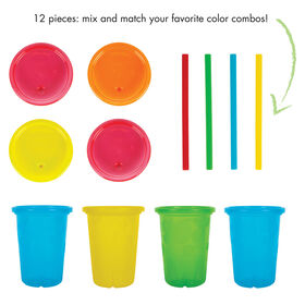 Take and Toss Straw Cups 10 Oz 4 Pack