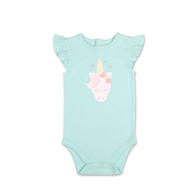 Koala Baby Pastel Rainbow Unicorn Bodysuit/Skirt 2 Piece Set, 6-9 Months