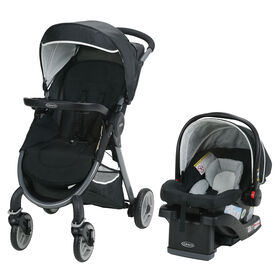 Graco FastAction Fold 2.0 Travel System with SnugRide Click Connect 35 Infant Car Seat - Mullaly