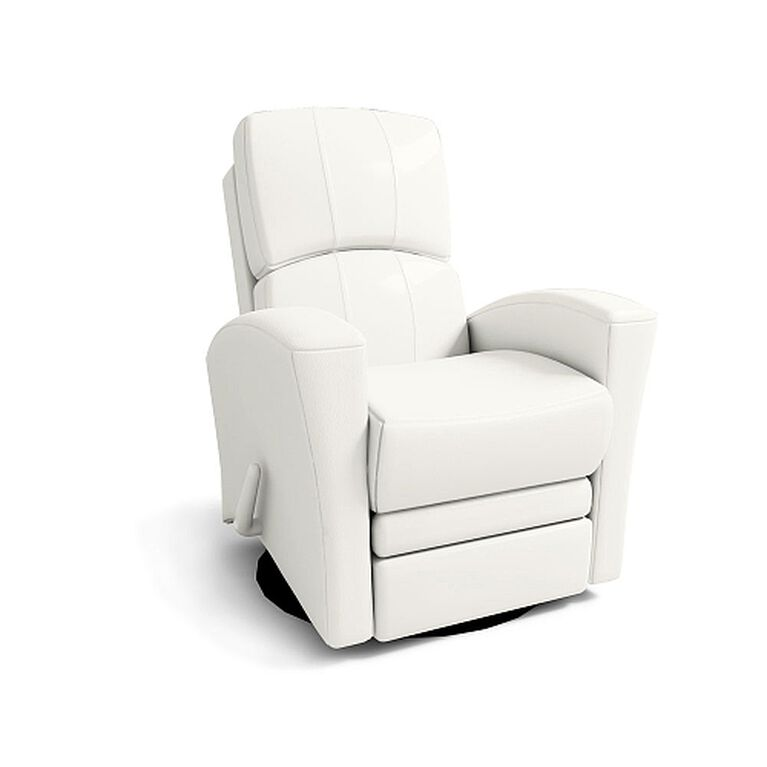 Astonishing Kidiway Habana Leather Glider White Lamtechconsult Wood Chair Design Ideas Lamtechconsultcom