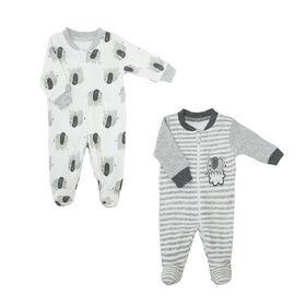 Koala Baby Neutral 2 Pack Sleeper - Elephant Grey, 3 Months
