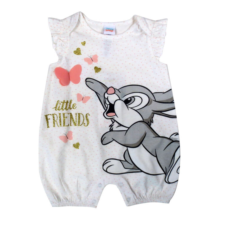 Disney Thumper barboteuse - Blanc, 6 mois