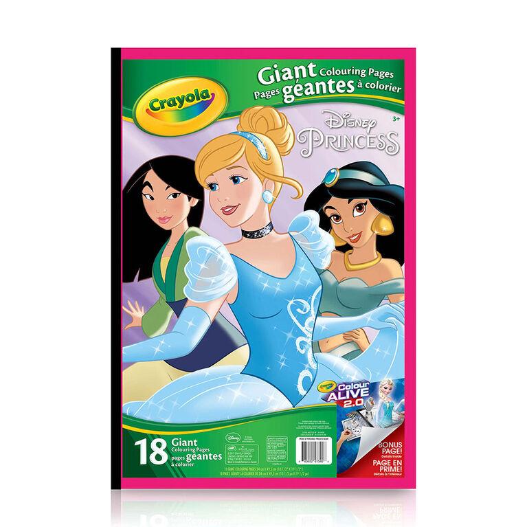 Crayola - Pages géantes à colorier, Princess