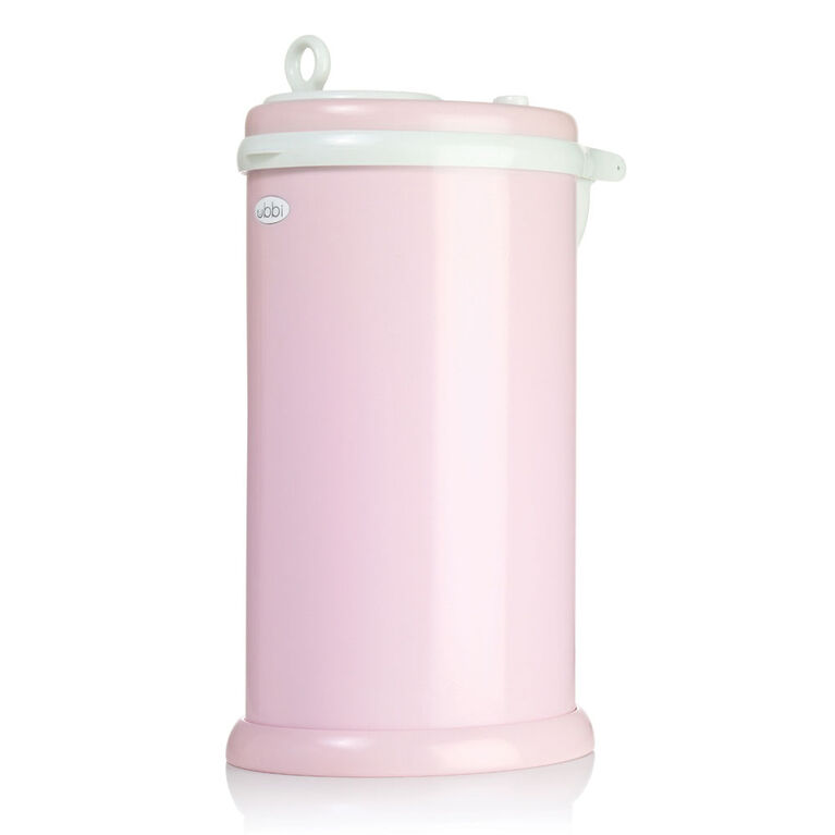 Ubbi Stainless Steel Diaper Pail - Pink.