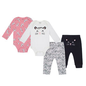 PL Baby Feline Fabulous  Mix & Match 4pcs Off White 12M
