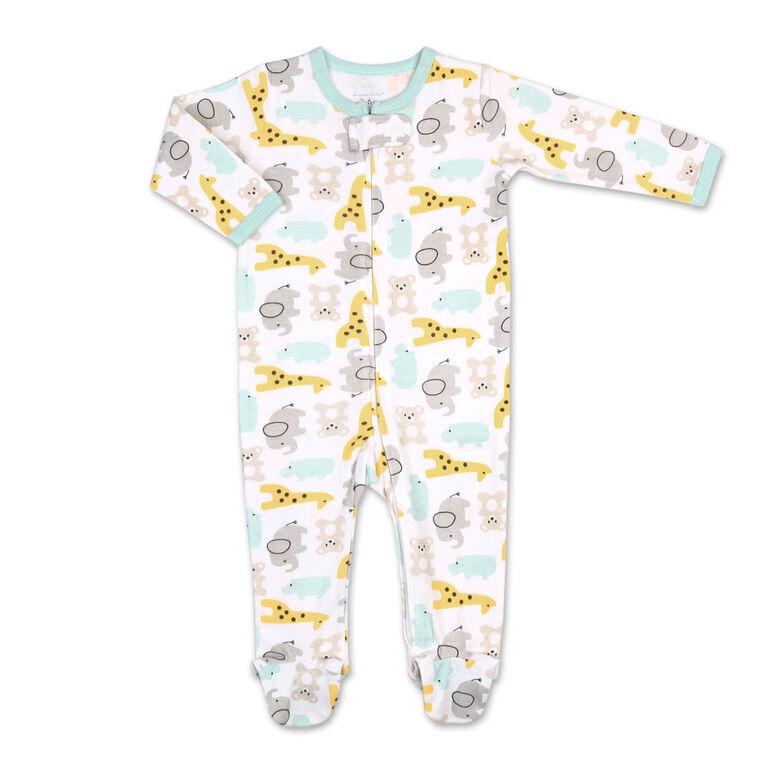 Koala Baby Baby Animals Print Zip-Front Sleeper, 6-9 Months